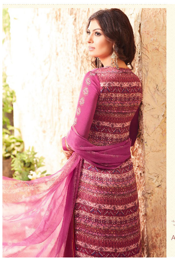 Embroidered Georgette Satin Salwar Suit_3
