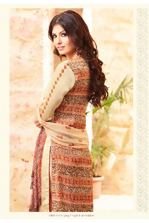 Embroidered Georgette Satin Salwar Suit_8