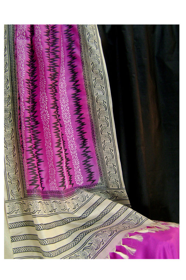 Pure Tussar Silk Suit in Pink Color_12