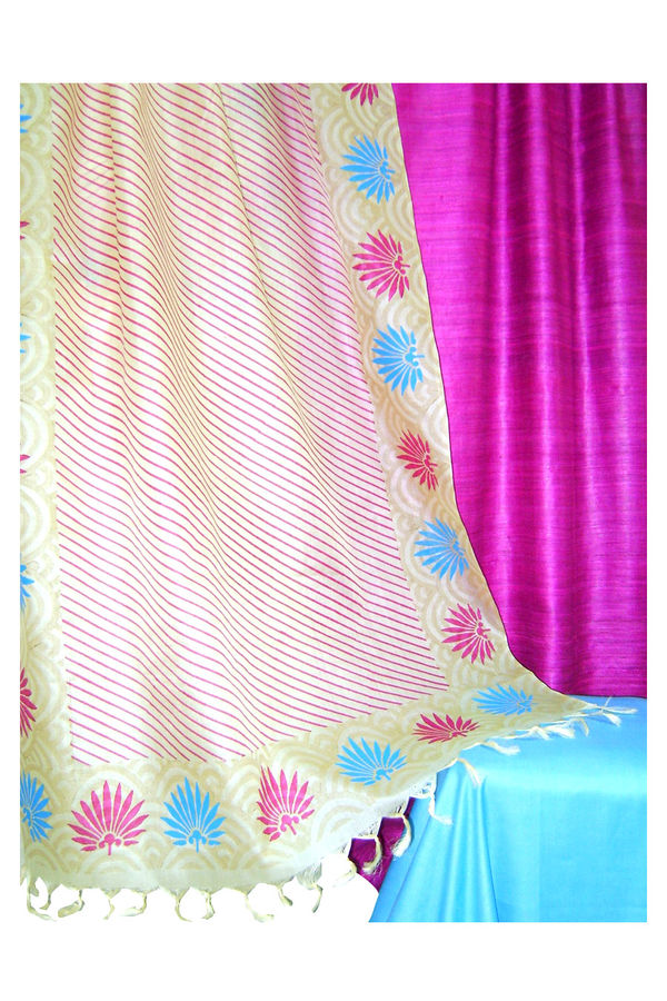 Pure Tussar Silk Suit in Pink Color_7