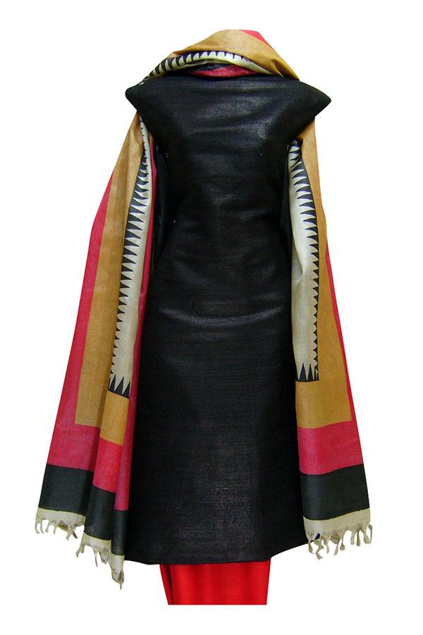 Tussar Silk Suit with Printed Dupatta SP 177