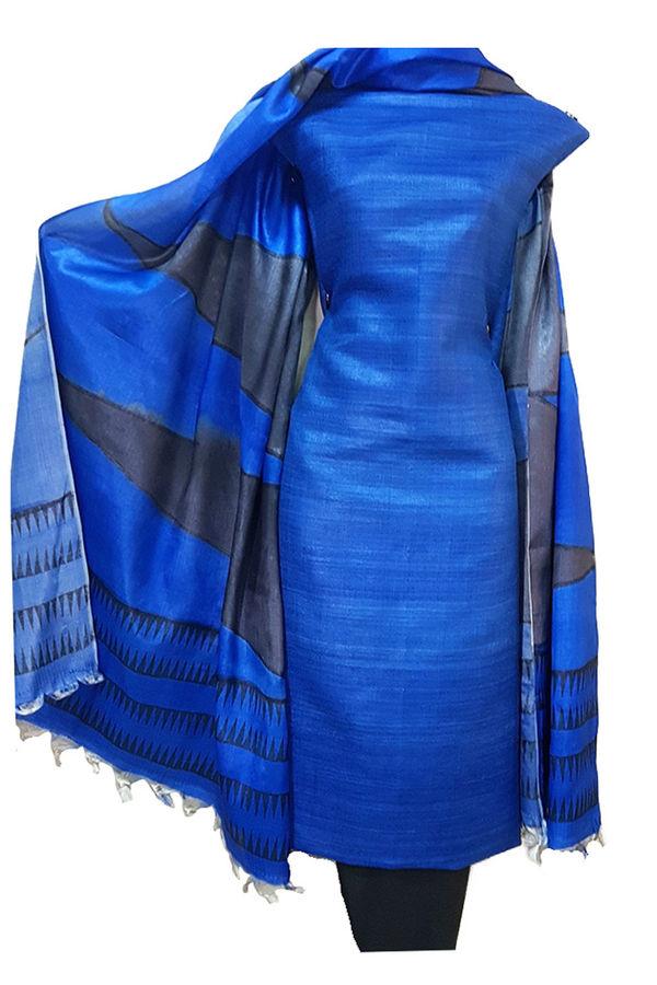 Tussar Silk Material dress material R 51