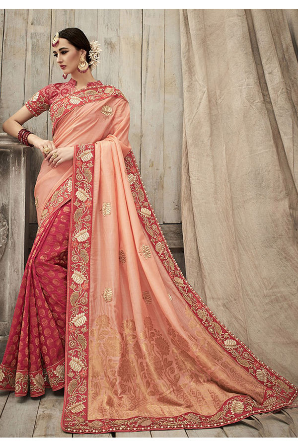 Designer Wedding Red Bridal Saree_1