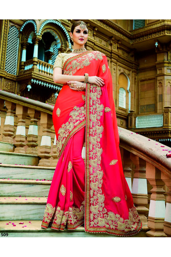 Designer Wedding Red Bridal Saree_11