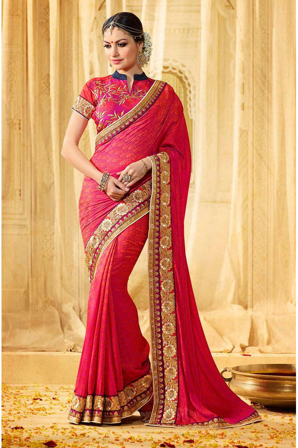 Designer Wedding Red Bridal Saree_16