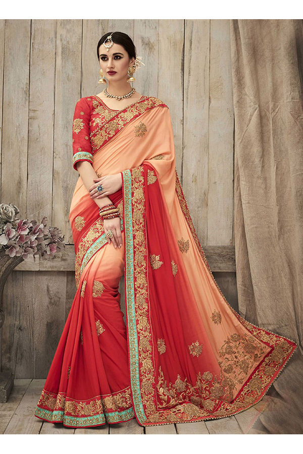Designer Wedding Red Bridal Saree_2