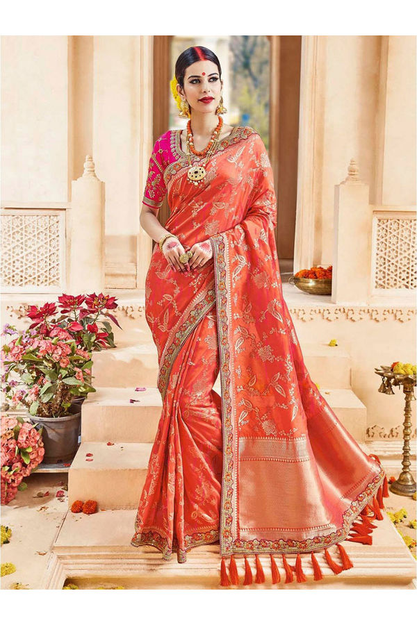 Designer Wedding Red Bridal Saree_6