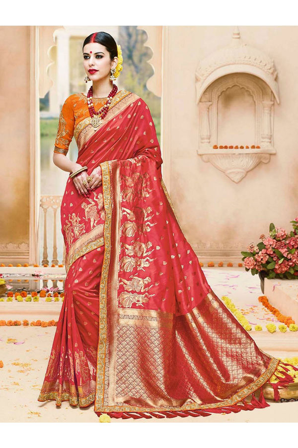 Designer Wedding Red Bridal Saree_7