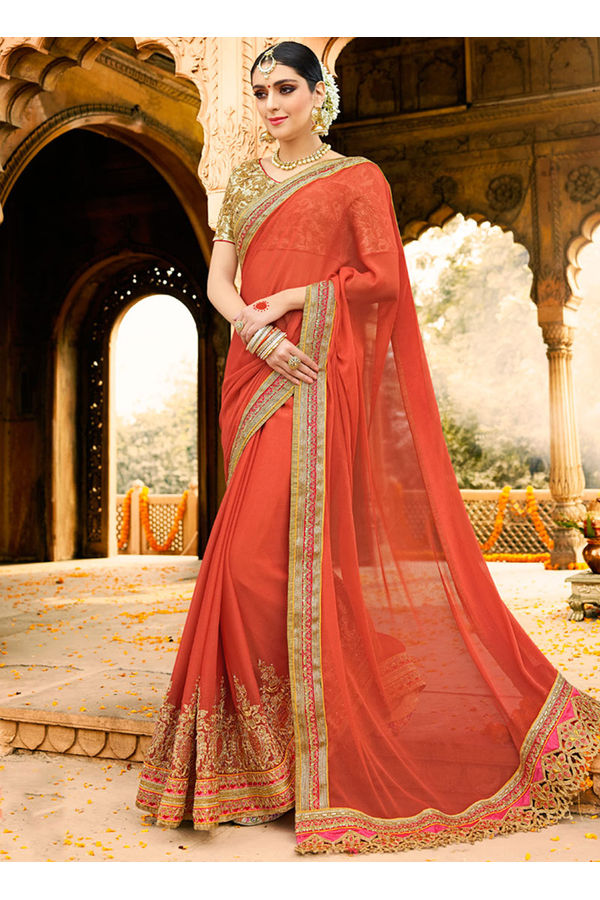 Designer Wedding Red Bridal Saree_9