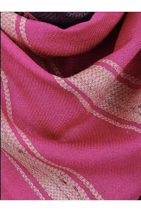 Dee's Alley  Pink Beige Eri Munga Silk Stole