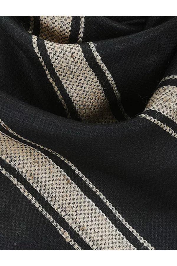 Dee's Alley Black Eri Munga Silk Stole