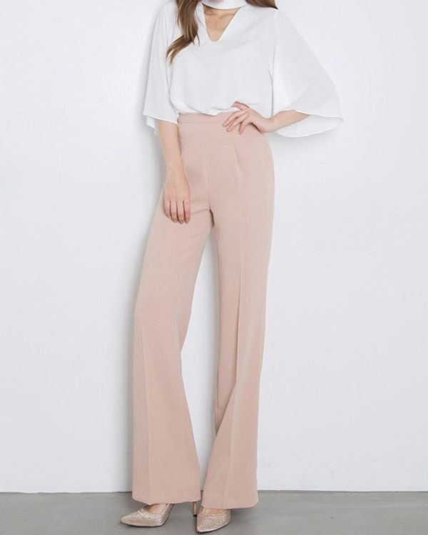 Classy Formal Halter Neck Top With Loose Pants | Ssw7ncmj041576
