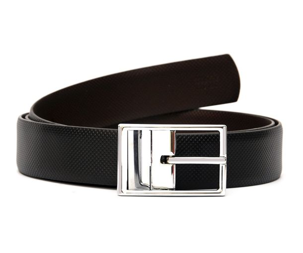 hidemark stylish black brown reversible belt with