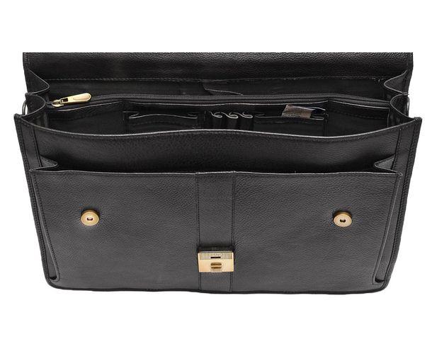 7a548d8db4c7 BLACK LEATHER LAPTOP BAG