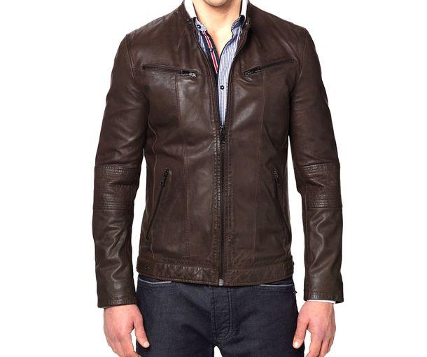 e467f0450ea Buy Designer Brown Leather jackets for Men online in India