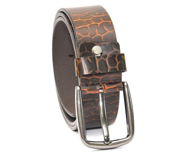 Hidemark Jaguar Print Leather Belt