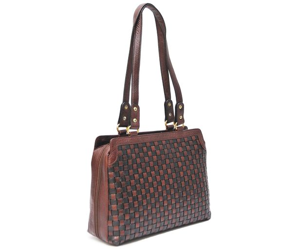 HIDEMARK HAND CRAFTED MESH PATTERN LEATHER HANDBAG · leather handbags  ladies leather handbags ... 8ebb5616674a8
