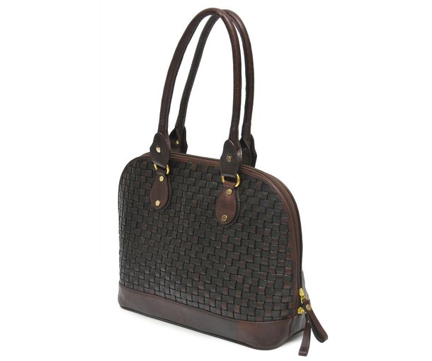 HIDEMARK HAND CRAFTED MESH PATTERN LEATHER HANDBAG. ‹ 8718db785fe9b