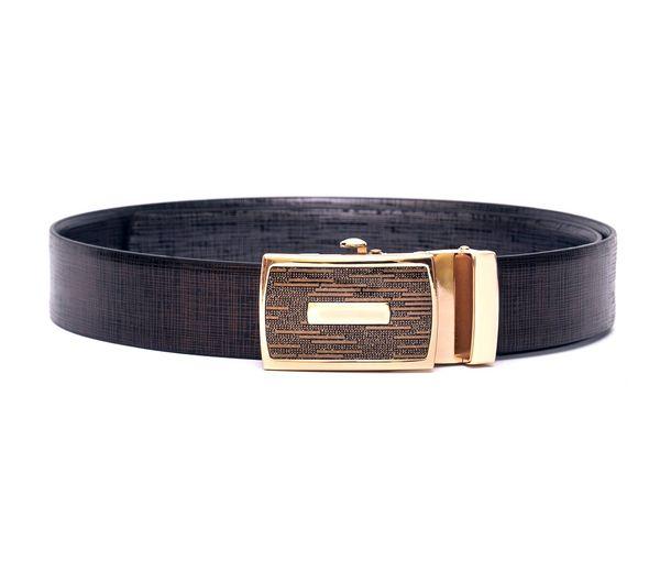 Hidemark Metallic Italian Leather Belt For Men With