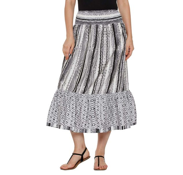 Off-White Striped Skirt