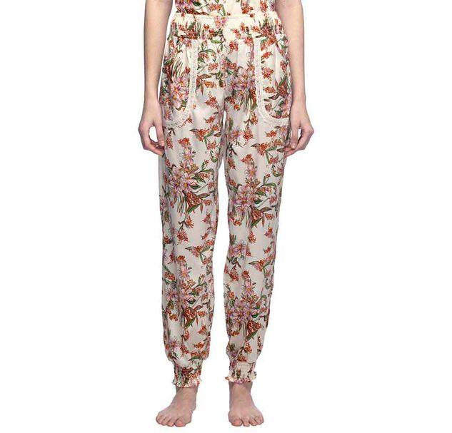 Ivory Floral Nightwear Pajama