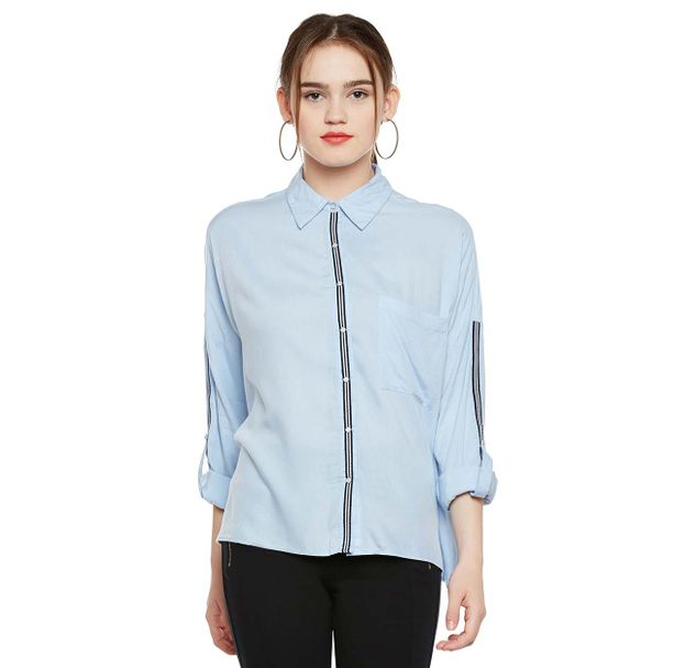 Blue Loose Fit Shirt