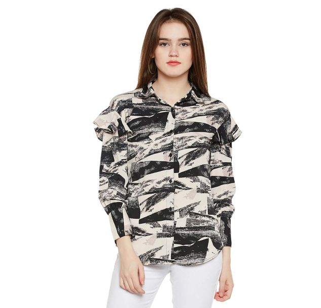 Abstract Print Shirt