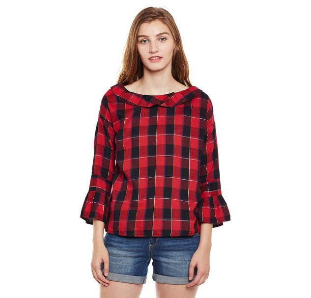 Red Checkered Top