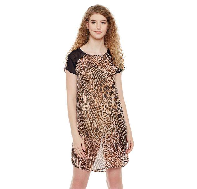 Animal Print Night Wear Dress