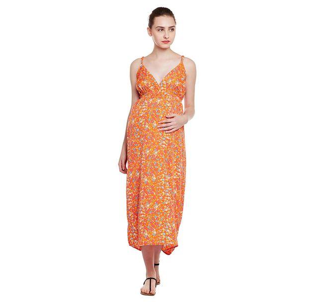 Ditsy Print Maternity Dress