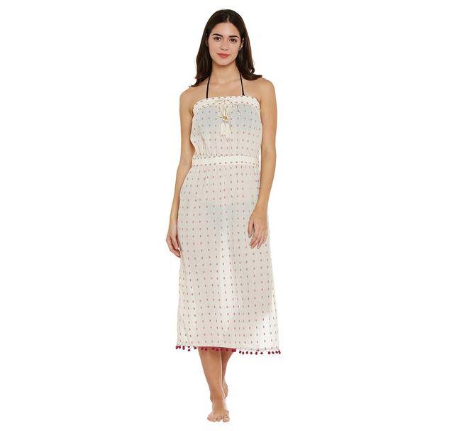 Beige Beach Wear Dress