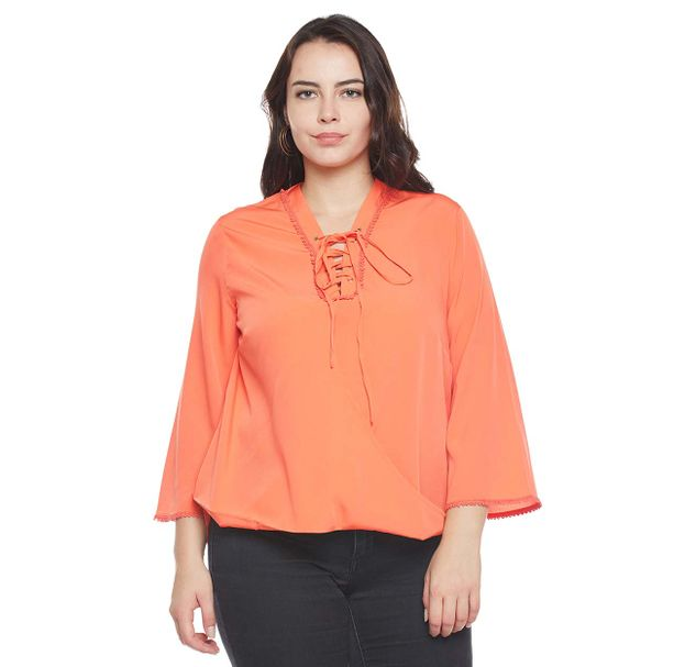 Solid Plus Size Top