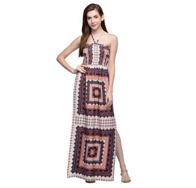 Women's Abstract Maxi Dress