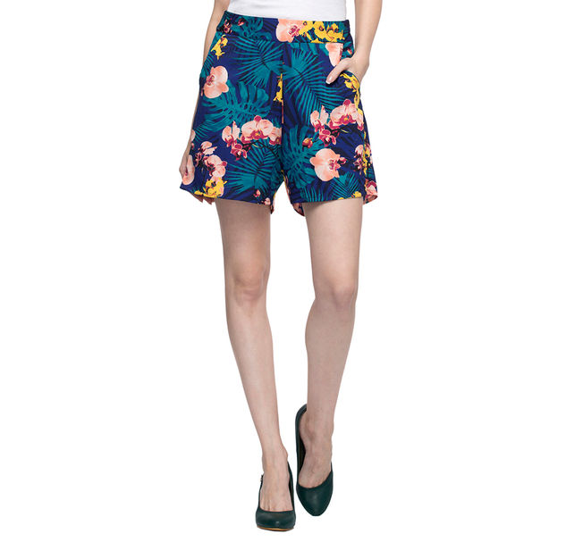 Women Floral Print Shorts