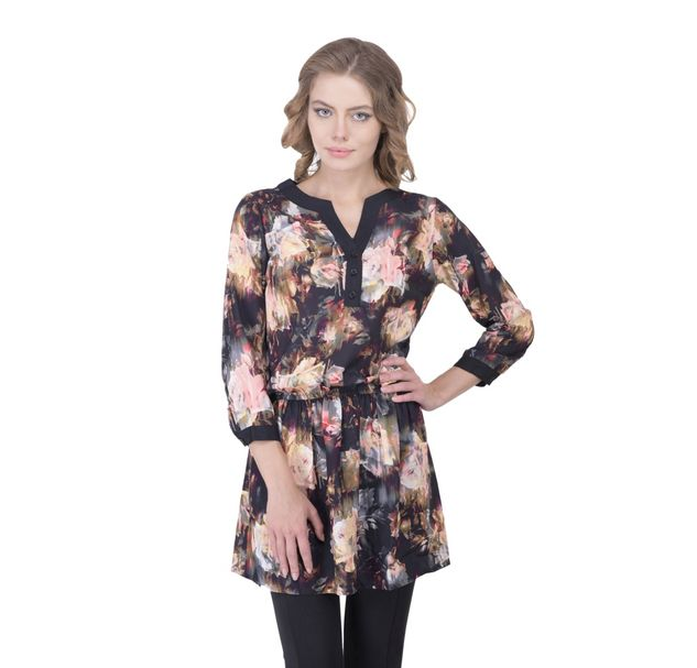Women Floral Shift Tunic