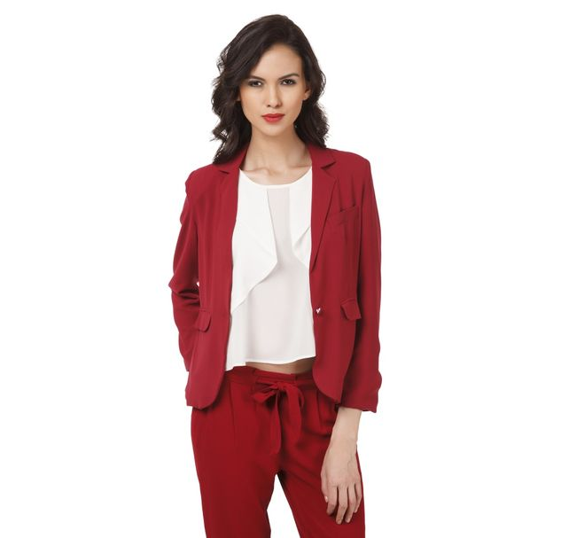 Women Red Blazer