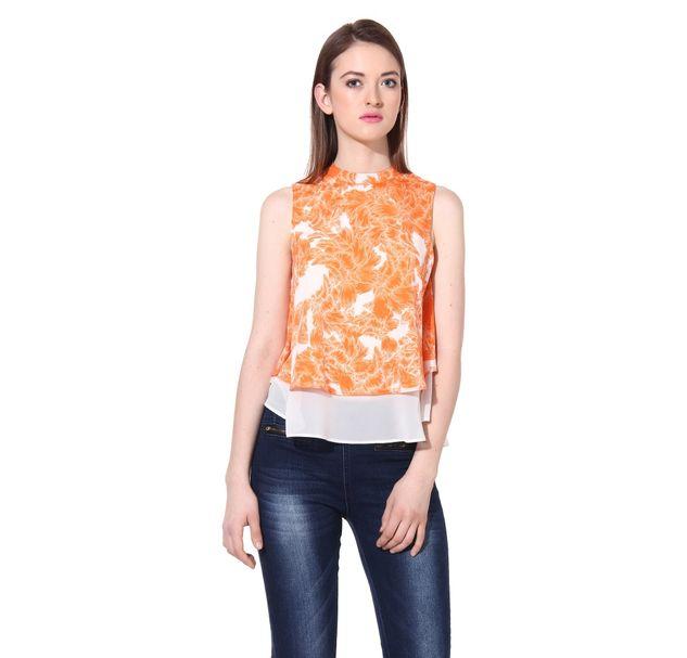 Women Orange Top