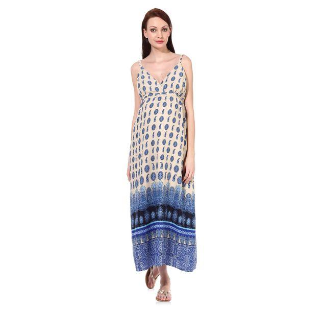 Maternity Blue Dress