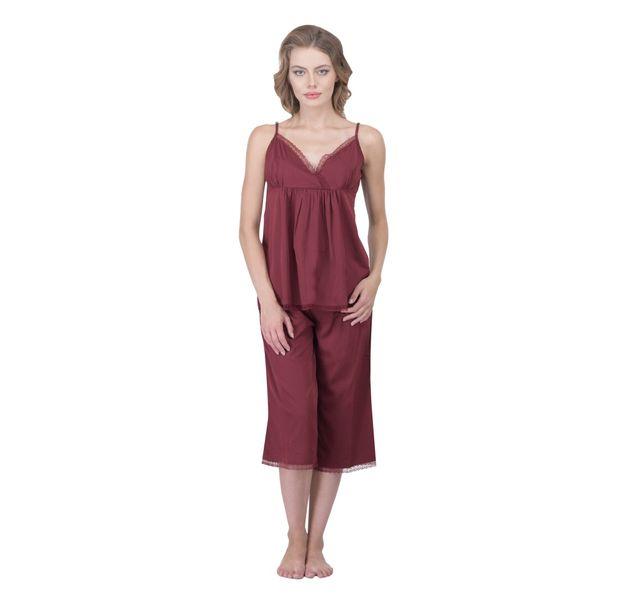 Women Red Nightwear Set