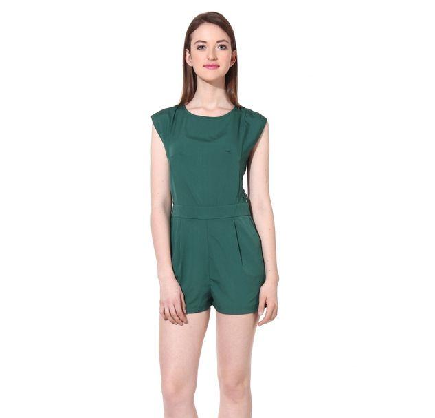 Women Green Playsuit