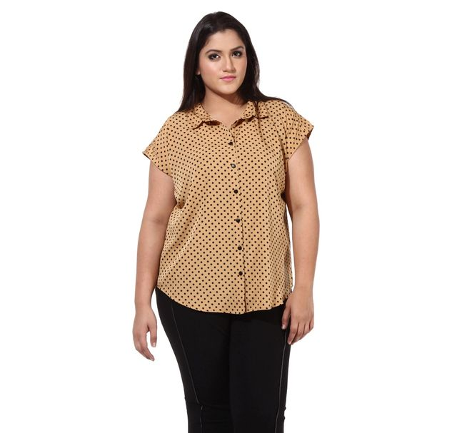 Plus Size Polka Shirt