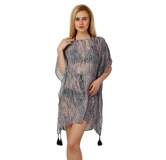 Women Blue Beachwear Coverup