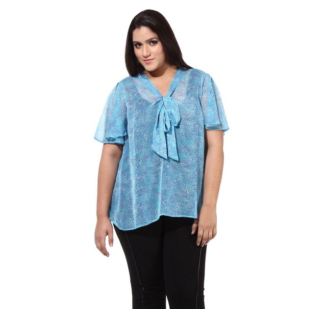 Plus Size Blue Top