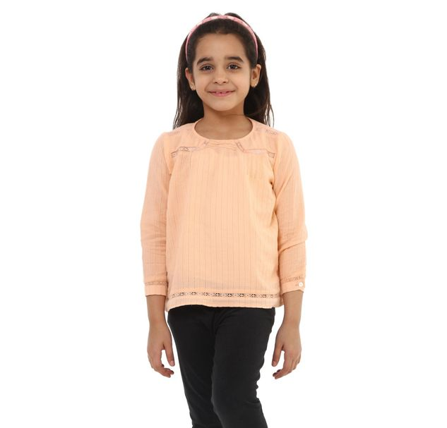 Girls Cotton Lace Top