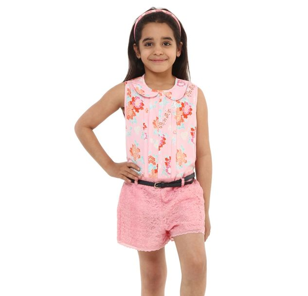 Girls Lace Playsuit