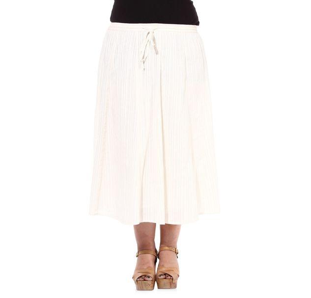 Plus Size Cotton Skirt