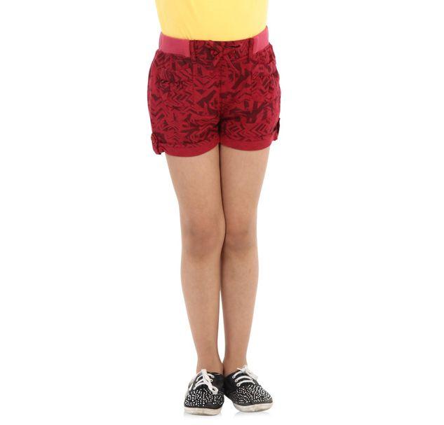Girls Red Shorts