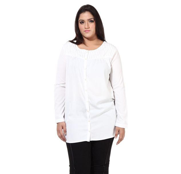 Plus Size White Tunic