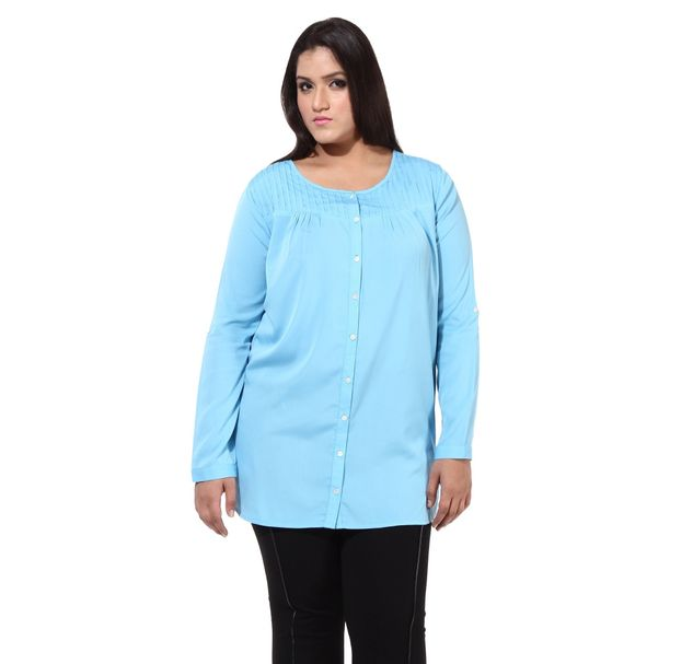 Plus Size Blue Tunic