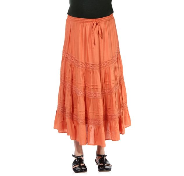 Maternity Orange Skirt